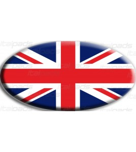 Scudetto sticker Union Jack Royal British flag bandiera inglese Range Rover OVAL
