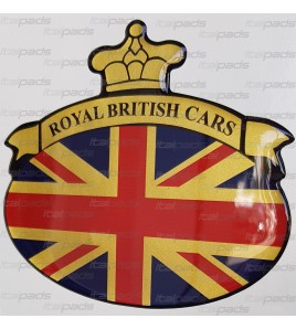 Sticker Union Jack Royal British flag bandiera inglese Range Rover Gold base