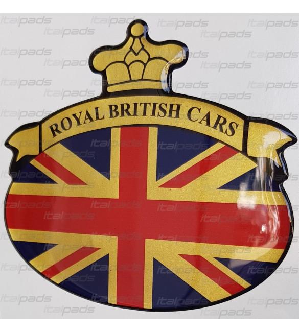 Sticker Union Jack Royal British flag Range Rover base gold