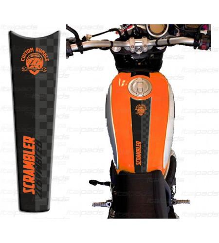 Paraserbatoio arancio arancione per Ducati Scrambler