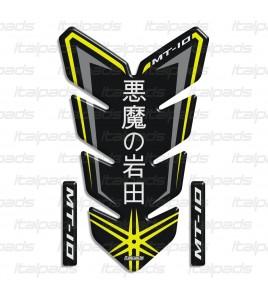 "Paraserbatoio ""I diavoli di Iwata"" per Yamaha MT-10 nero/giallo"