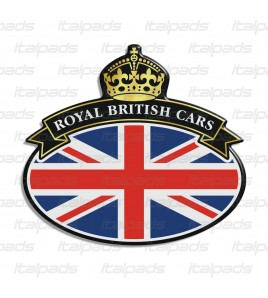 Scudetto sticker Union Jack Royal British flag bandiera inglese Range Rover