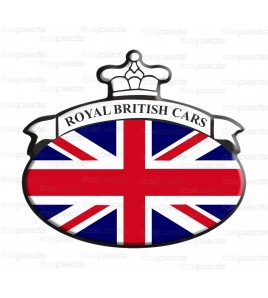 Scudetto Union Jack Royal bandiera inglese Range Rover B/W