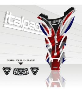 "Paraserbatoio per Triumph U.K. flag Union Jack ""Cerniera"" ZIP Detroit"