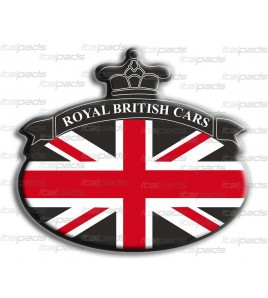 Sticker Union Jack Royal British flag bandiera inglese Range Rover Nero/Nero