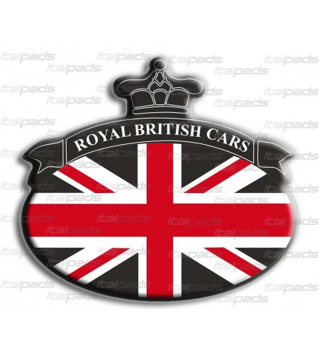 Sticker Union Jack Royal British flag bandiera inglese Range Rover Nero/Nero