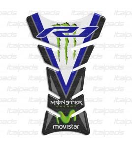 """Paraserbatoio """"Classic Sport"""" bleu carbonio per Yamaha R1"""
