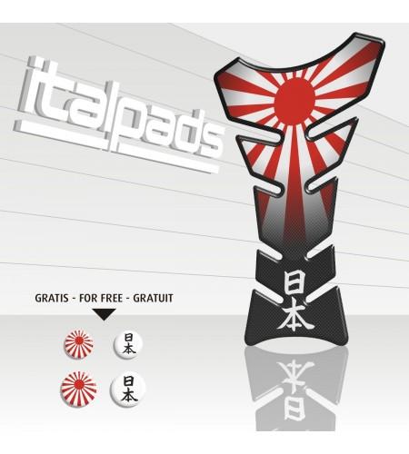 "Paraserbatoio bandiera GIAPPONE JAPAN flag Tank Pad protector ""Classic Top"" + 4"