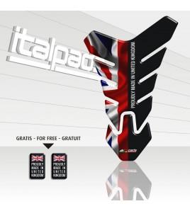 "Paraserbatoio mod. ""Nevada"" per Triumph U.K. flag Union Jack ""Proudly made in..."""