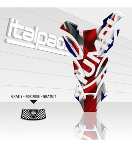 "Paraserbatoio per Triumph U.K. flag Union Jack ""DETROIT"""
