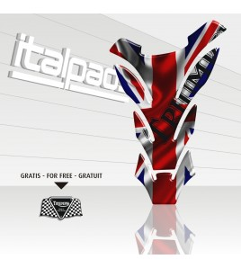 "Paraserbatoio Triumph U.K. flag Union Jack ""DETROIT"" + 1 sticker GRATIS!!"