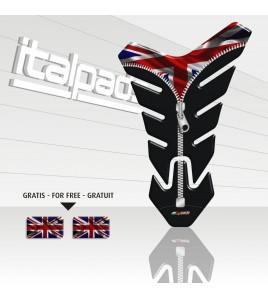 "Paraserbatoio mod.  per Triumph U.K. flag Union Jack ""Nevada ZIP""+2"