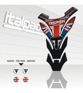 "Paraserbatoio  ""DETROIT Top black""  per Triumph U.K. flag Union Jack"