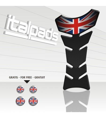 Paraserbatoio resina Triumph U.K. flag Union Jack Classic TANK PAD carbon-look+4