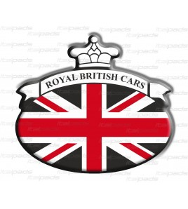 Scudetto sticker Union Jack bandiera inglese Range Rover NERO