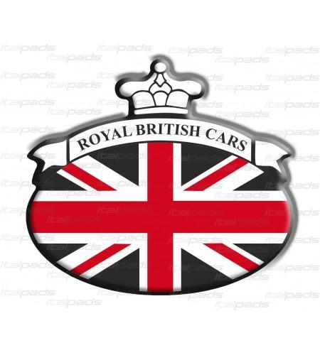 Scudetto sticker Union Jack bandiera inglese Range Rover NERO