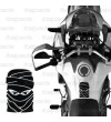 "Paraserbatoio per Honda Africa Twin CRF 1000 mod. ""Tuareg"" nero"