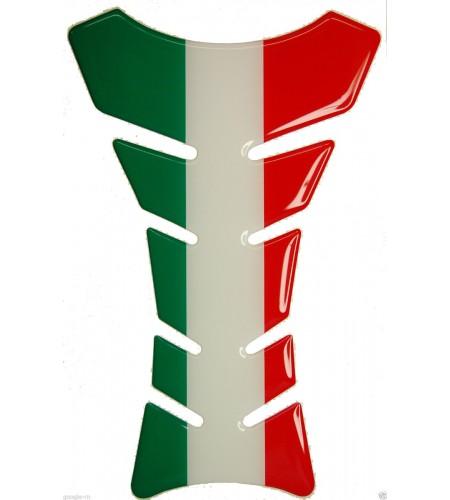 Paraserbatoio resinato bandiera Italia Italiana Italy flag Tank Pad stickers
