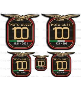 Adesivi resina stickers Centenario Anniversario Moto Guzzi
