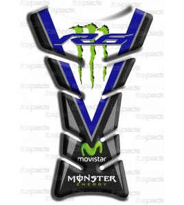 """Paraserbatoio """"Classic Sport"""" bleu carbon look per Yamaha R6"""