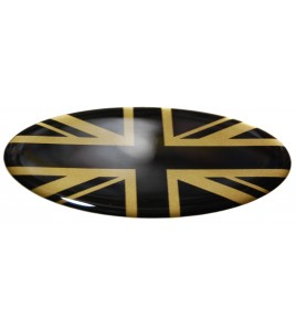 Adesivo Union Jack Royal British flag bandiera inglese Range Rover GOLD/BLACK