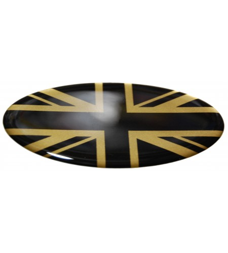 Adesivo Union Jack Royal British flag bandiera inglese Range Rover GOLD/BLACK