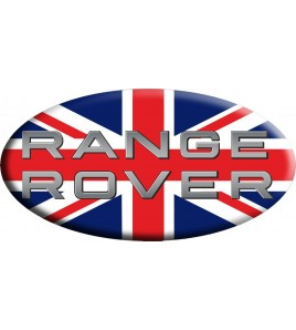 Adesivo sticker Union Jack Royal British flag bandiera inglese Range Rover OVAL