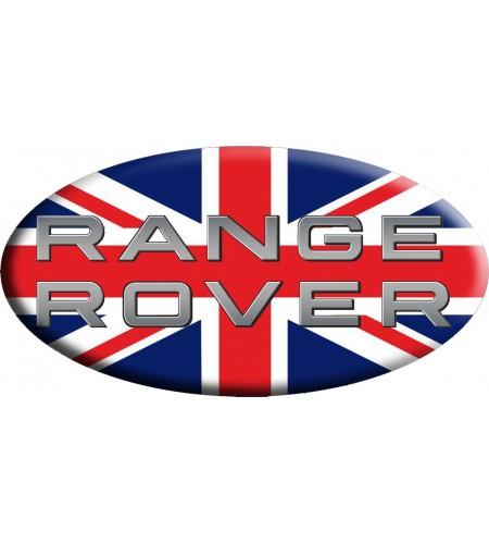 Adesivo sticker Union Jack Royal British flag bandiera inglese Range Rover OVAL