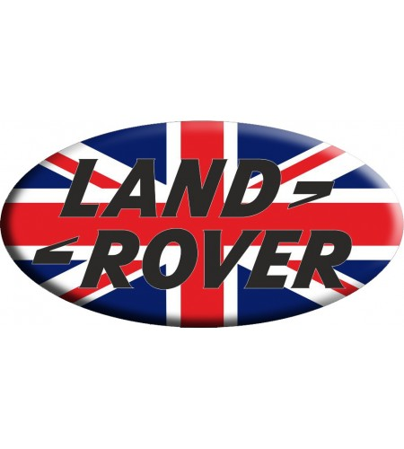 Adesivo sticker Union Jack Royal British flag bandiera inglese Land Rover OVAL