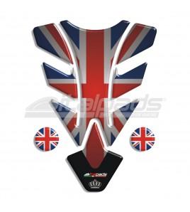 "Paraserbatoio per Triumph U.K. flag Union Jack (noT) mod. ""Illinois Top"" + 2 GRATIS"