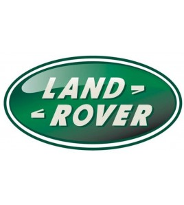 Adesivo ovale in resina Land Rover, verde mm. 84x43