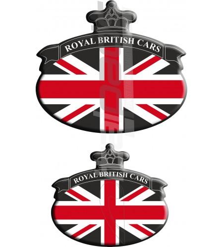 Kit n. 2 Stickers Union Jack bandiera inglese Range Rover Nero/Nero