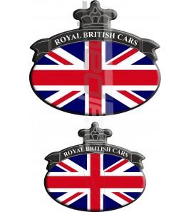 Kit n. 2 Stickers Union Jack bandiera inglese Range Rover Nero/Bleu