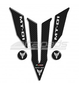 Paraserbatoio resinato Yamaha logo MT-01 carbon look + 2 Gratis