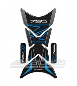 """Paraserbatoio compatibile per kawasaki Z750 blu/azzurro, mod. """"Shark""""+ 2 Omaggio"""