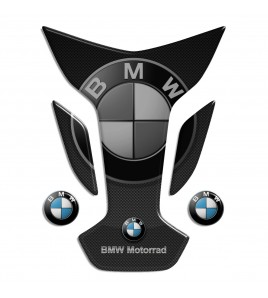"Paraserbatoio resinato per BMW mod. ""Wings Top"" TANK PAD carbon-look"