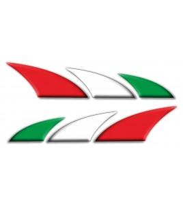 Kit 2 stickers decorativi Italia bandiera italiana per auto moto