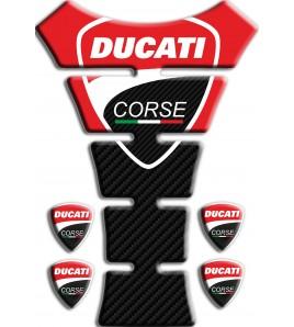 """Paraserbatoio """"Ducati Corse"""" TANK PAD sticker Texas rosso/carbonio+4"""
